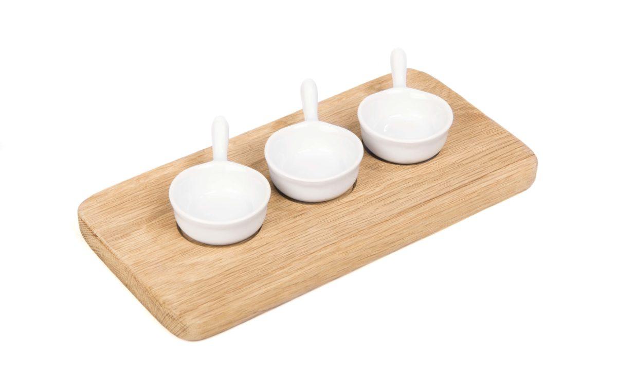 Wildside Trading 3 bowl condiment set