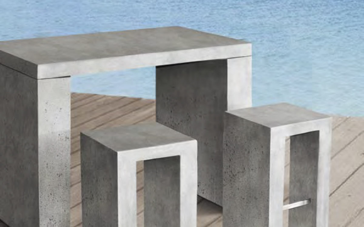 Wildside Trading concrete style furniture