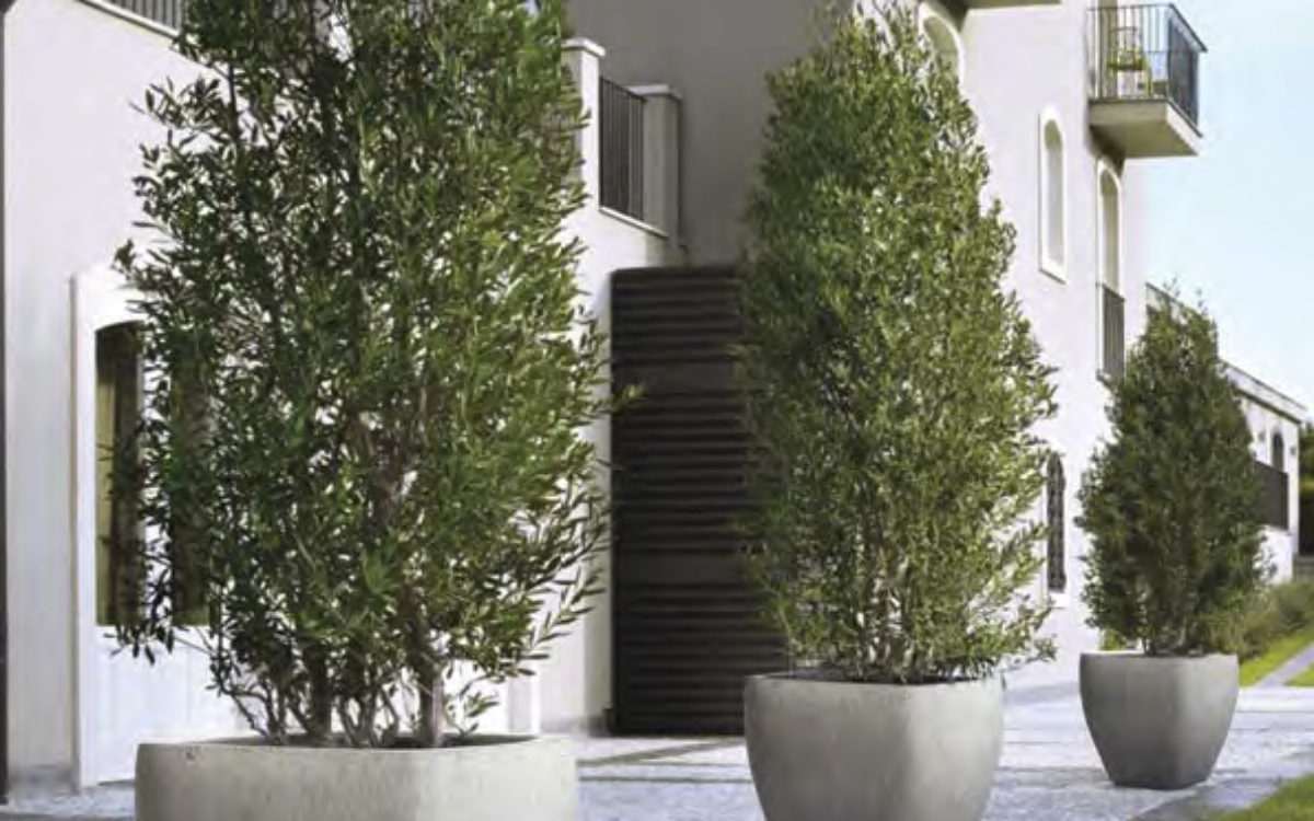Wildside Trading concrete pots from Stone Series